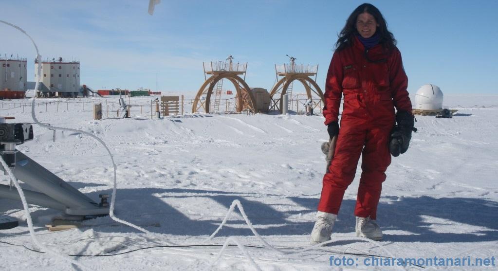 Chiara Montanari in Antartide