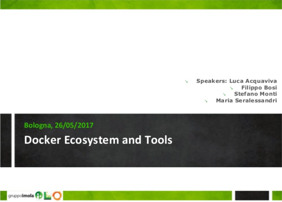 slide Docker Ecosystem and Tools
